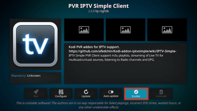 Få in kanalerna på Simple Client